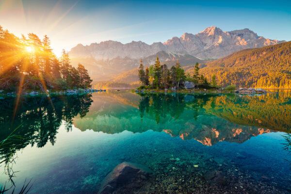 Alpen Zugspitze Eibsee