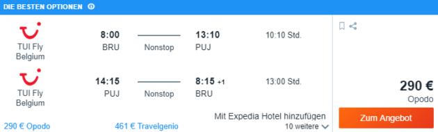 Brüssel nach Punta Cana
