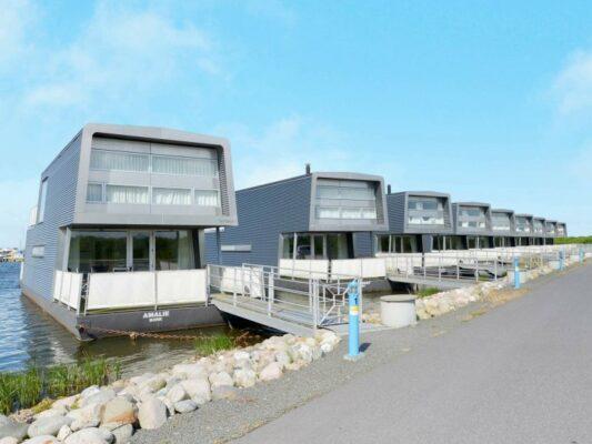 Dänemark Hemmet Strand Hausboot Außen