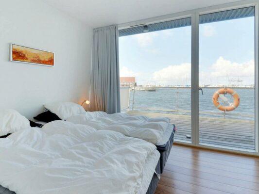 Dänemark Hemmet Strand Hausboot Schlafzimmer