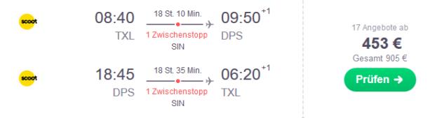 Flug Berlin Denpasar