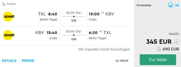 Flug Berlin Krabi