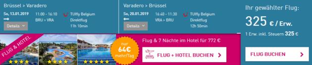 Flug Brüssel Kuba