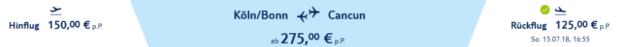 Flug Köln Cancun