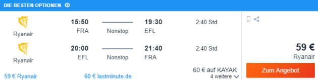 Frankfurt nach Kefalonia