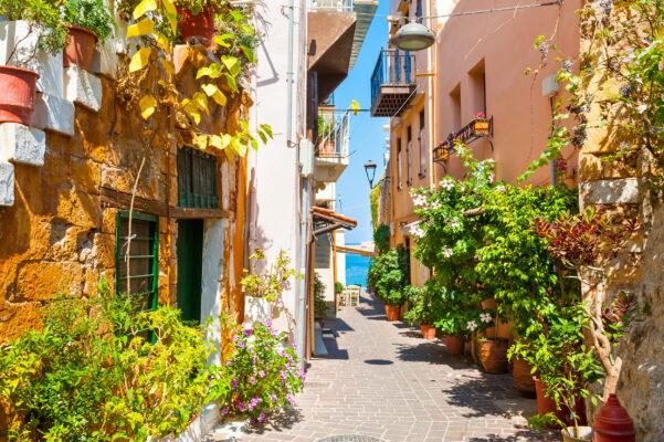 Griechenland Kreta Straße in Chania