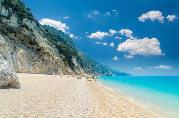 Griechenland Lefkada Egremni Beach