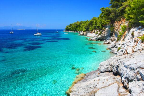 Griechenland Skopelos Kastani Strand