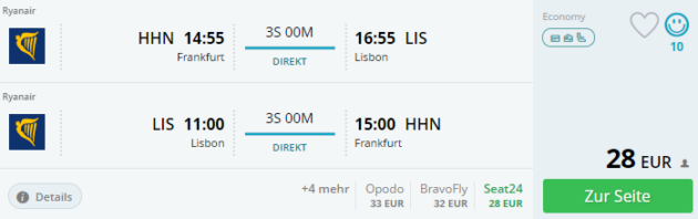 Hahn nach Lissabon
