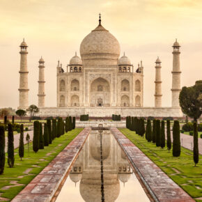 Indien Agra Taj Mahal Sonnenaufgang