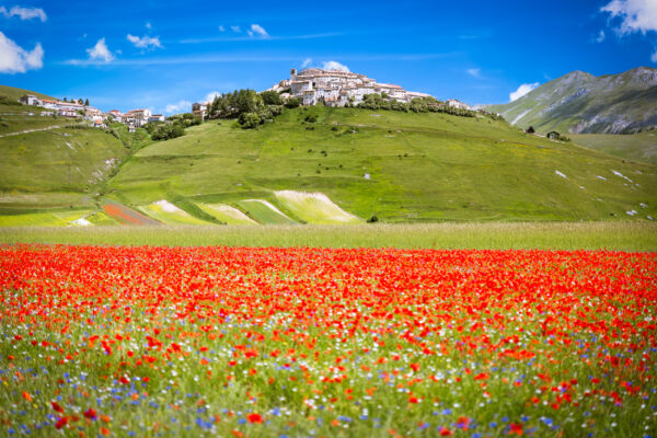 Italien Castelluccio Dorf