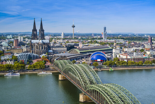 Köln Luftbild Rhein