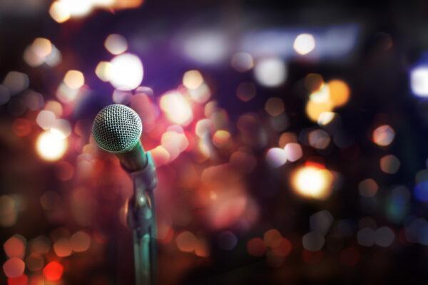 Mikrophon Bühne