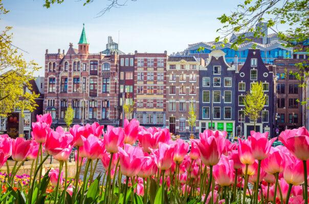 Niederlande Amsterdam Traditionelle Häuser