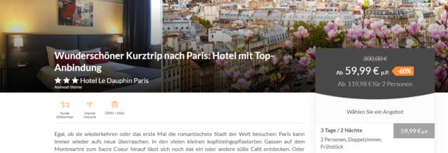 Paris Hotelgutschein