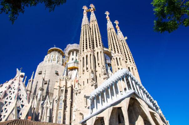 Spanien Barcelona La Sagrada Familia Kathedrale