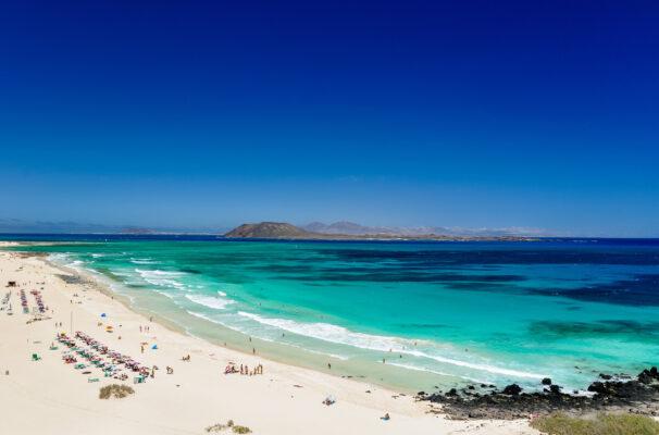 Spanien Fuerteventura Corralejo Beach