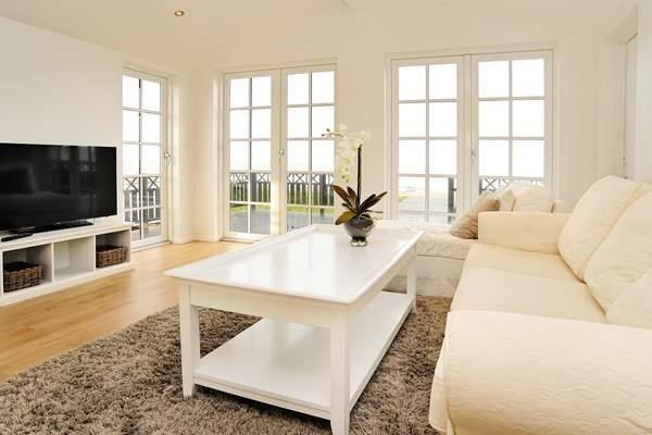 Strandhaus Hasmark II Dänemark Wohnzimmer