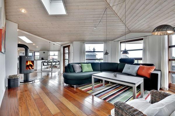Strandhaus Hennestrand Dänemark Wohnzimmer