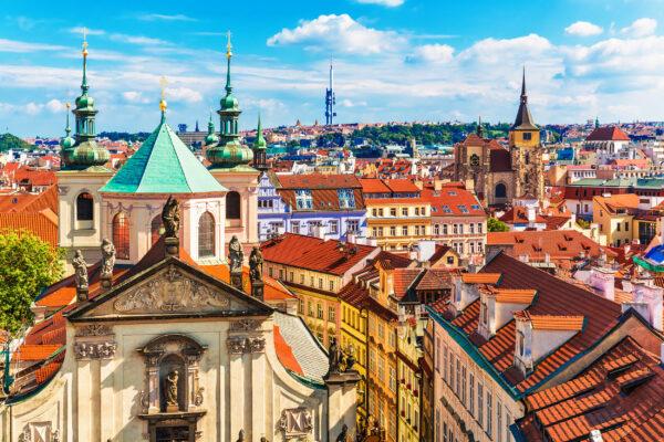 Tschechien Prag Altstadt Topview