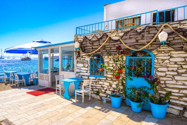 Türkei Bodrum Strandcafe