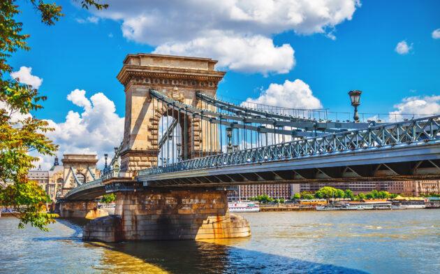 Ungarn Budapest Kettenbrücke