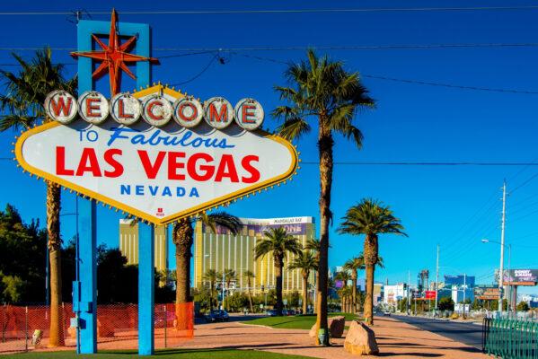 USA Las Vegas Sign Sonnenschein