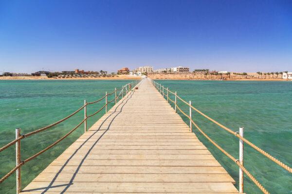 Ägypten Hurghada Pier aus Holz