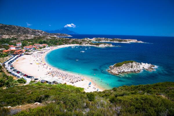 Griechenland Chalkidiki Kalamitsii Beach