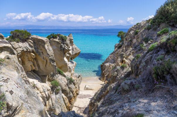 Griechenland Chalkidiki Sithonia Felsen