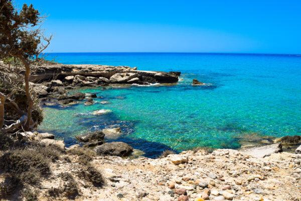 Griechenland Kos felsiger Strand