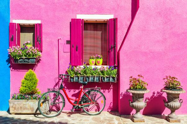 Italien Burano Pinkes Haus