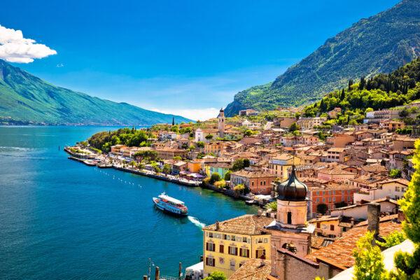 Italien Gardasee Limone Sul Garda Wasserfront