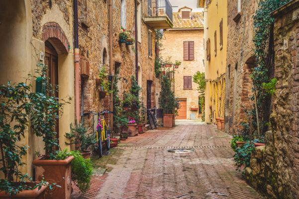 Italien Toskana Pienza Altstadt