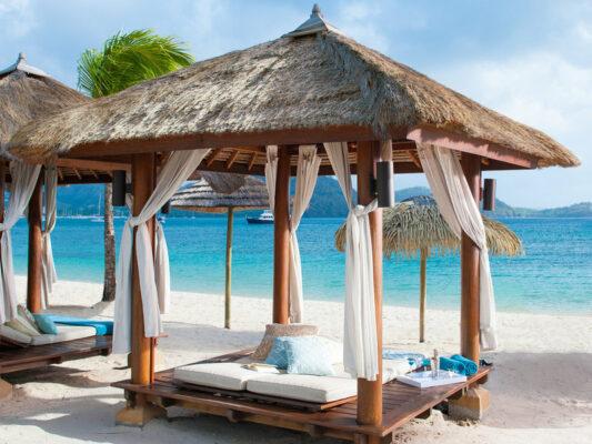 Sandals Grande St. Lucian Spa Resort Beachbed