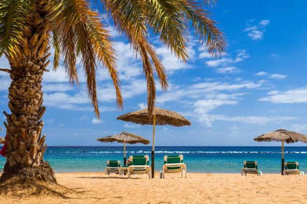 Spanien Teneriffa Tropischer Strand