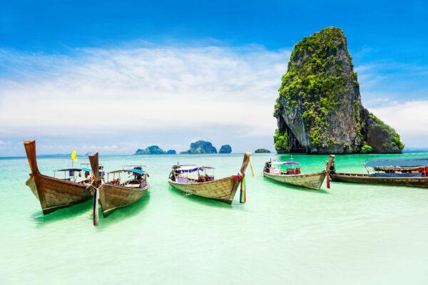Thailand Phuket Longtale Boote