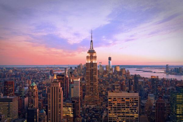 USA New York Dämmerung