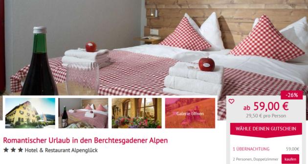 2 Tage Alpen Hotelgutschein