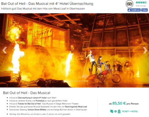 2 Tage Bat out of hell