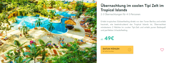 3 Tage Tropical Islands