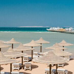 Weihnachten: 7 Tage Hurghada im guten 4* Hotel mit All Inclusive, Flug, Transfer & Zug nur 300€