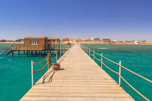 Ägypten Meer Steg