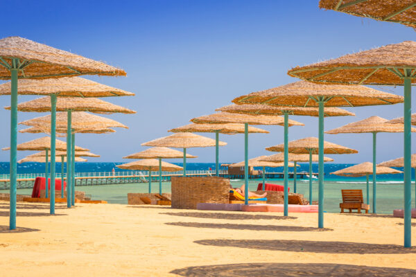 Ägypten Strand Schirme
