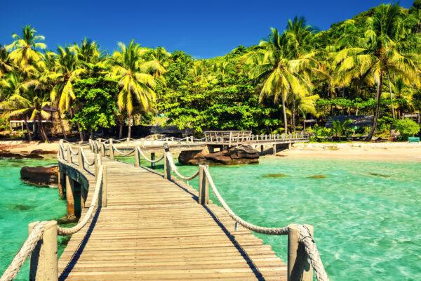 Bali Strand Brücke