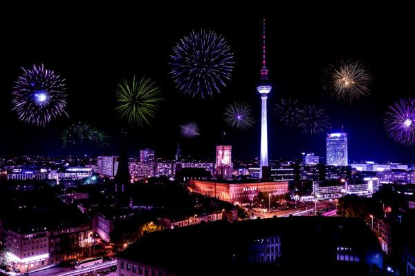 Berlin Silvester Feuerwerk