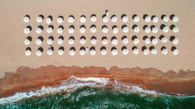 Bulgarien Strand Luftbild