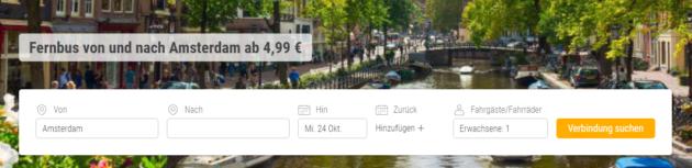 Busfahrt Amsterdam