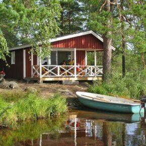 Ruhepol: 6 Tage auf eigener Insel in Schweden mit Ferienhaus & Boot nur 94€ p.P.