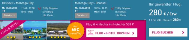 Flug Brüssel Montego Bay